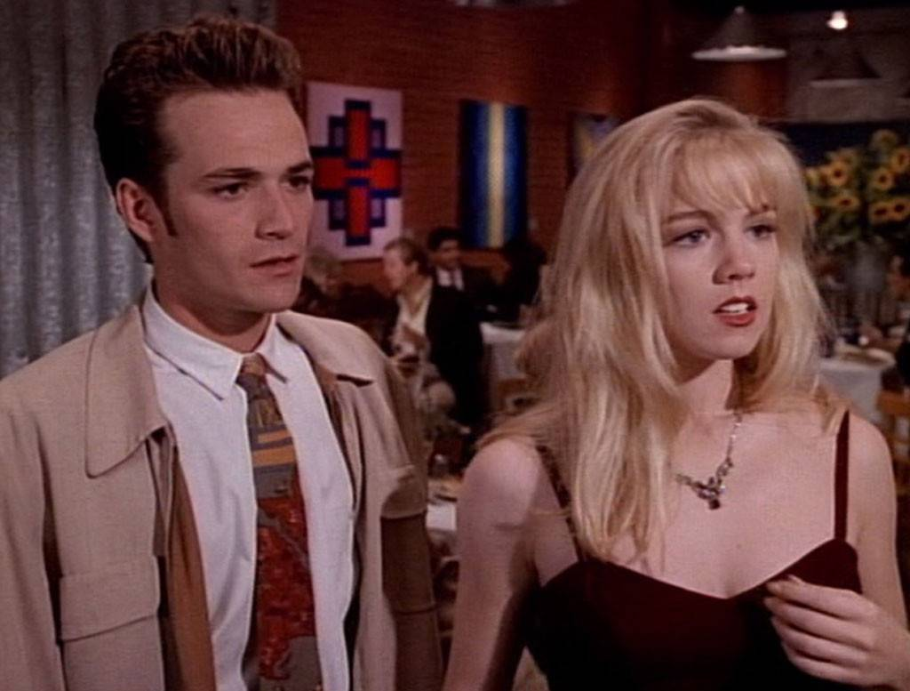 Luke Perry and Jennie Garth on Beverly Hills, 90210