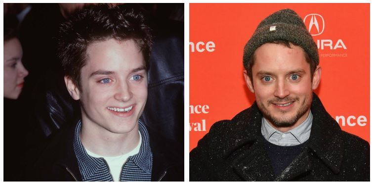 Elijah Wood now and then