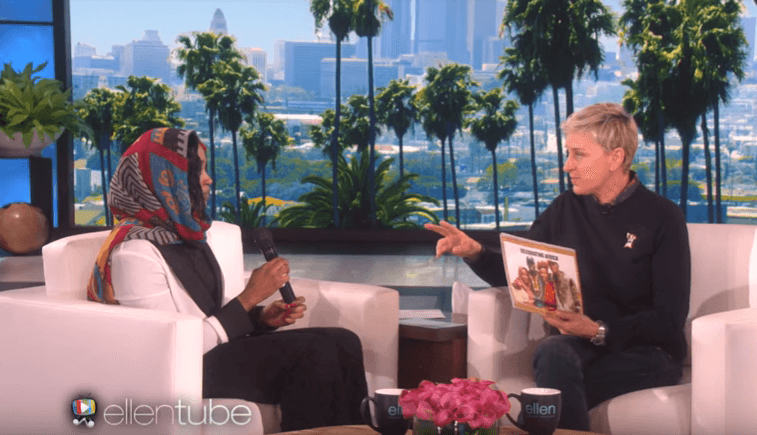 EkhlasAhmed and Ellen DeGeneres