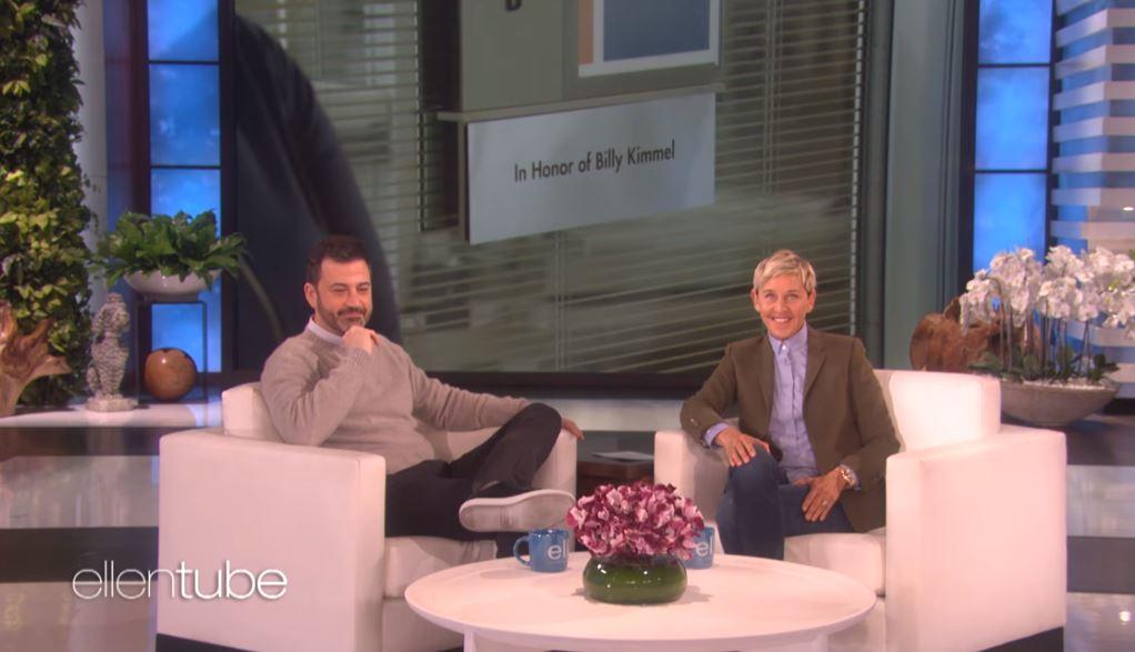 Jimmy Kimmel and Ellen DeGeneres