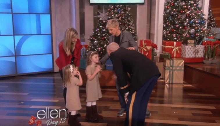 Ellen DeGeneres and a military family reunited