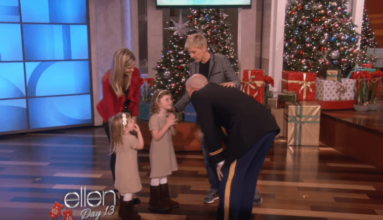 Ellen DeGeneres and a military family reunited