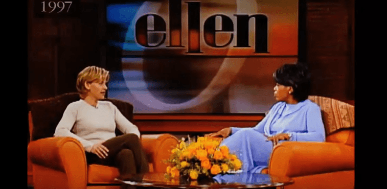 Ellen DeGeneres and Oprah in 1997