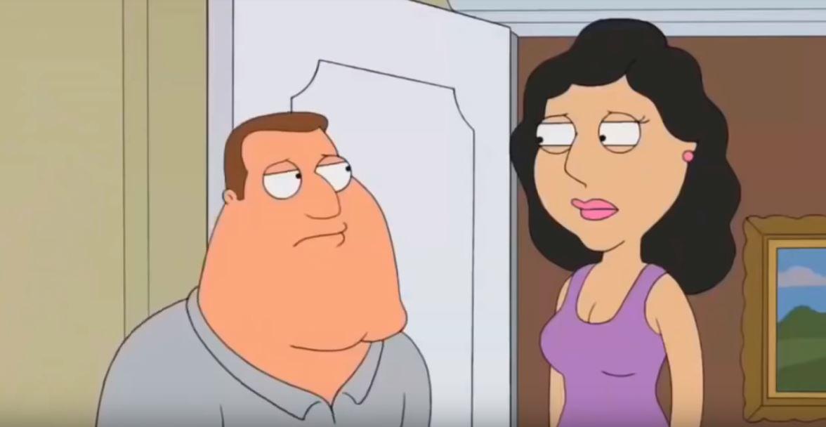 Family Guy Joe and Bonnie