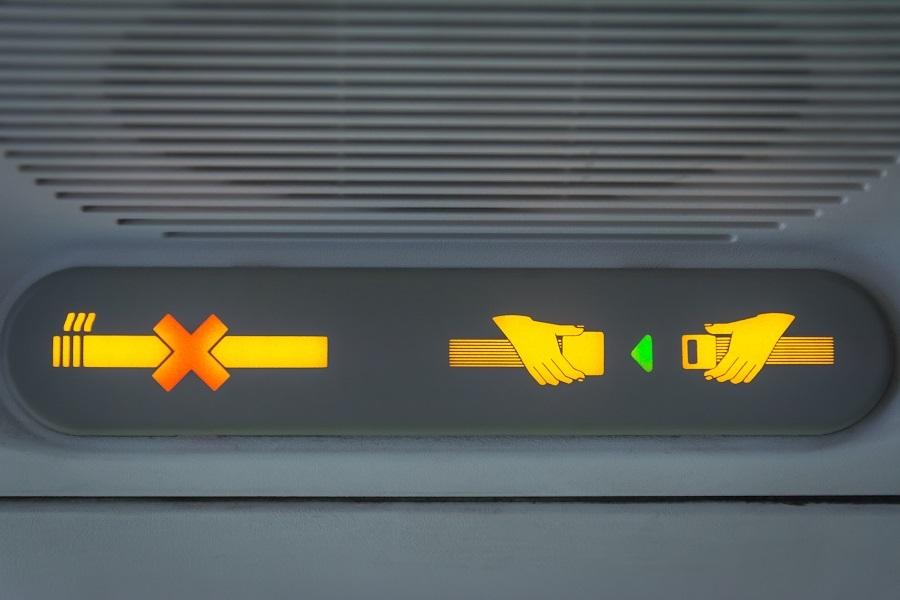 No Smoking and Fasten Seat belt Sign