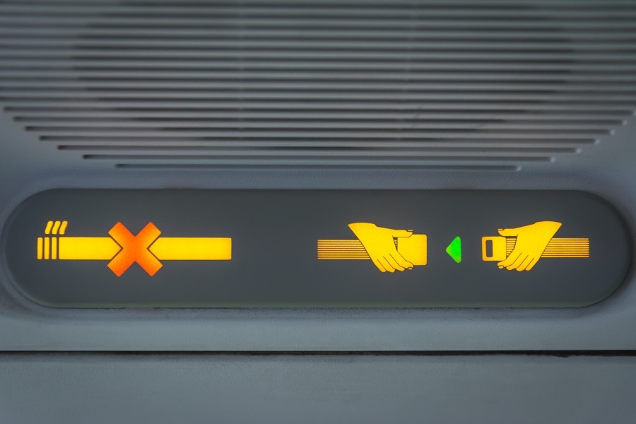 No Smoking and Fasten Seat belt Sign