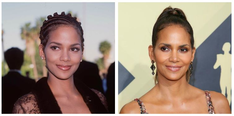Halle Berry now and then