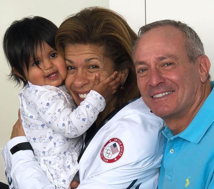 Hoda Kotb with her husband and daughter