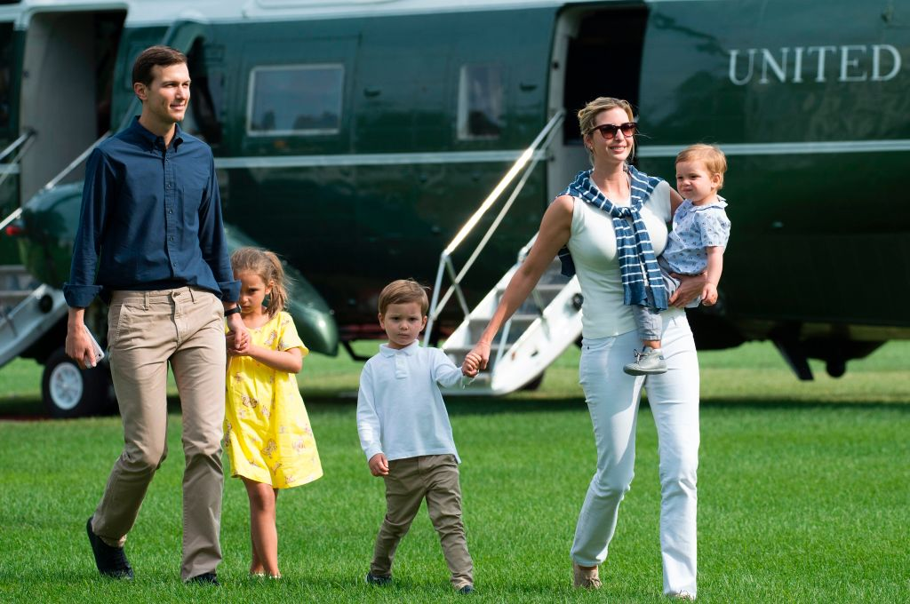 Ivanka Trump, Jared Kushner, and their kids
