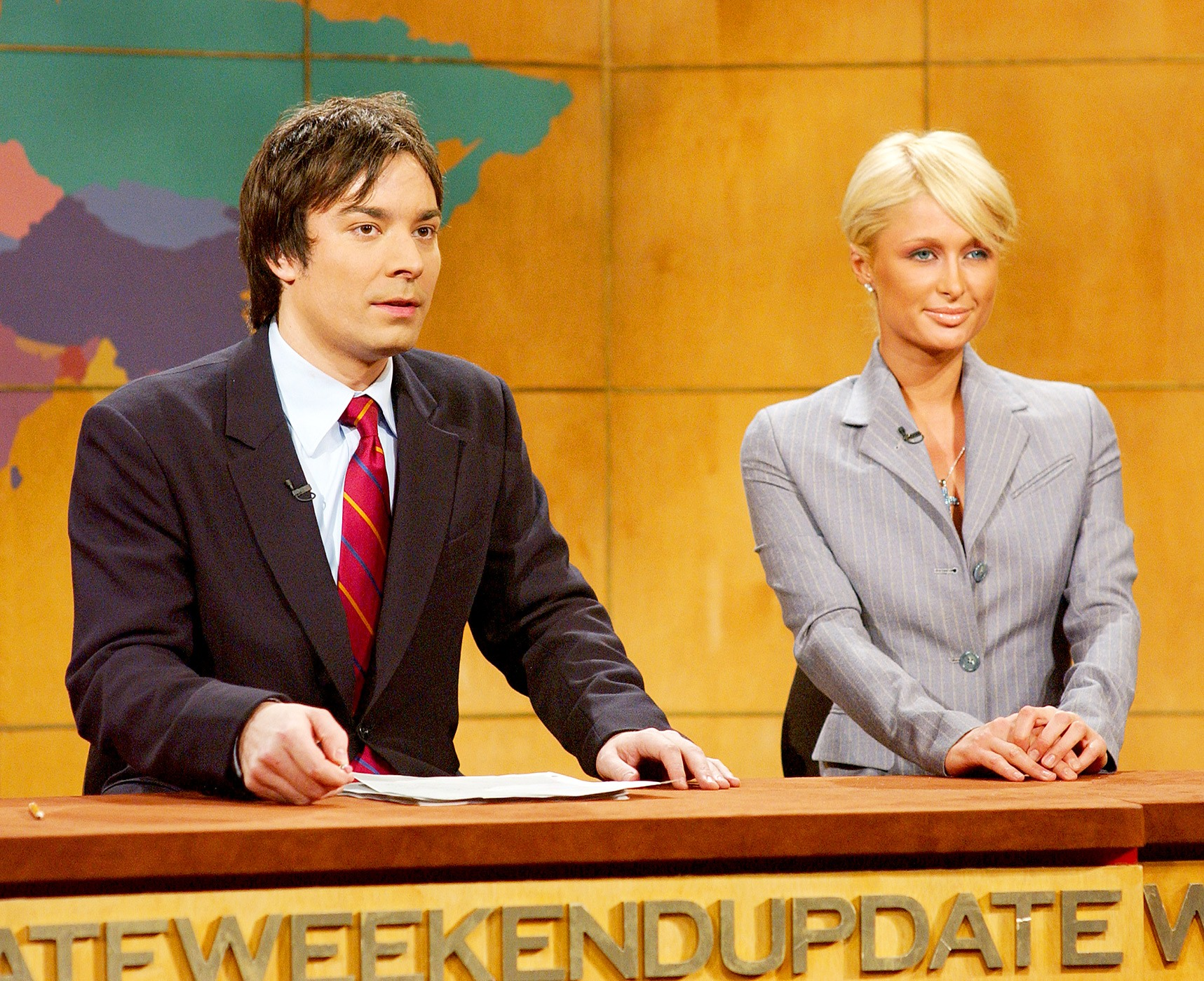Jimmy Fallon and Paris Hilton on Saturday Night Live