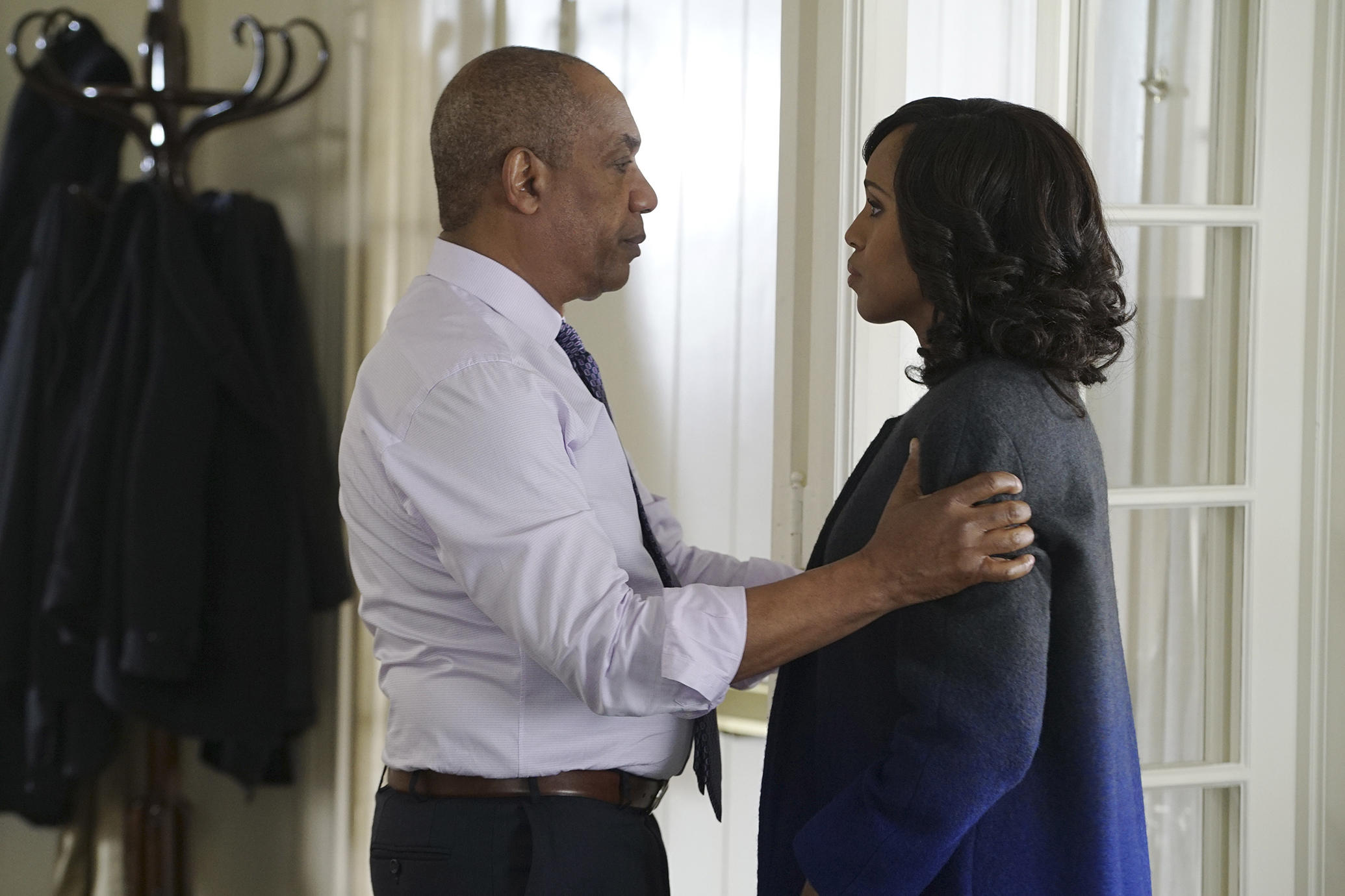 Joe Morton and Kerry Washington on Scandal