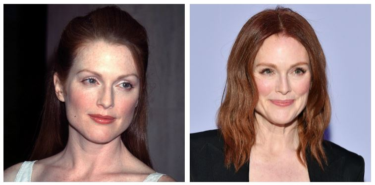 Julianne Moore then and now