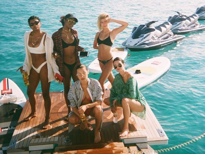 Kendall Jenner and friends