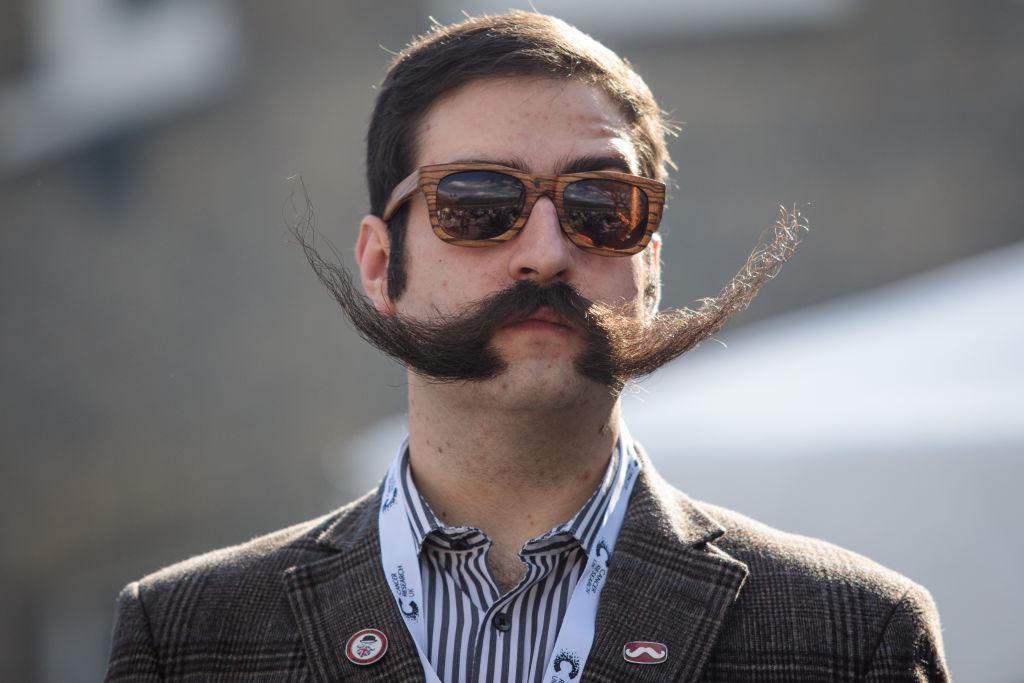 A man with a large moustache