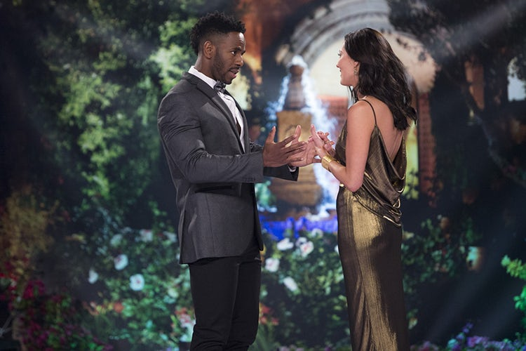 Lincoln Adim and Becca Kufrin on The Bachelorette