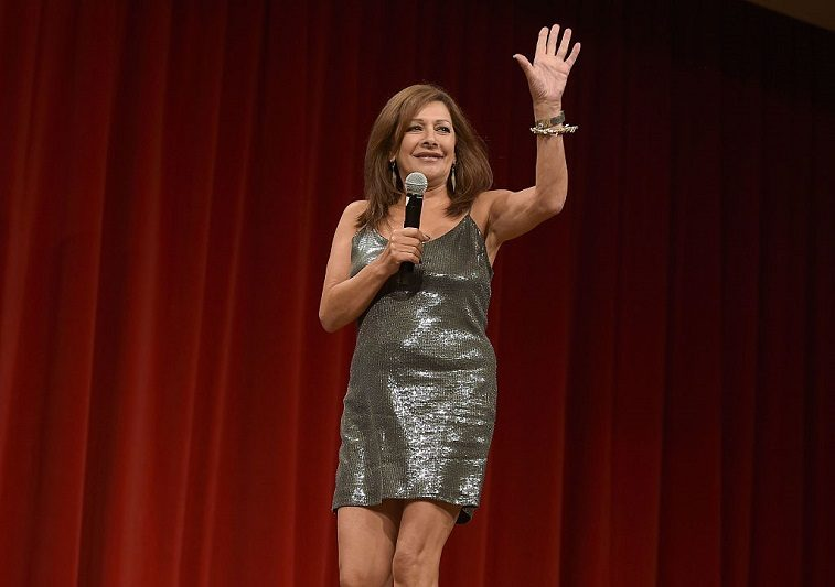 Marina Sirtis speaks during the Star Trek: Mission New York event at Javits Center on September 3, 2016 in New York City.