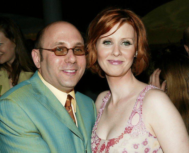 Actors Willie Garson and Cynthia Nixon attend HBO'S 'Sex and The City' season premiere screening after-party at the American Museum of Natural History June 18, 2003 in New York City. (Photo by Evan Agostini/Getty Image