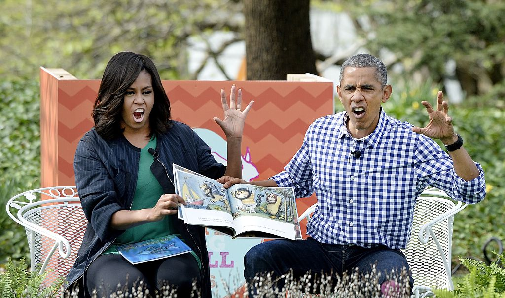 Barack and Michelle Obama at the Easter Egg Roll