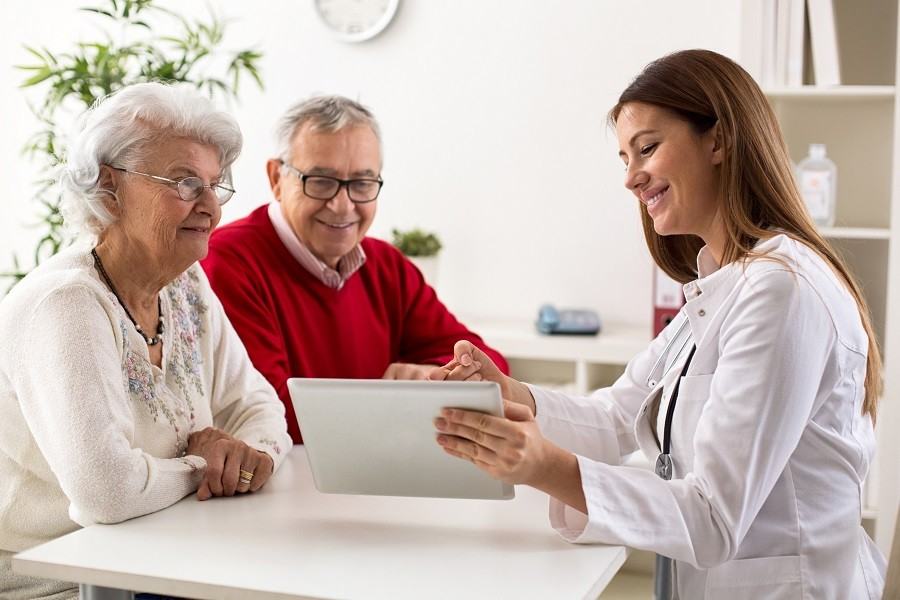 couple on consultation with a doctor