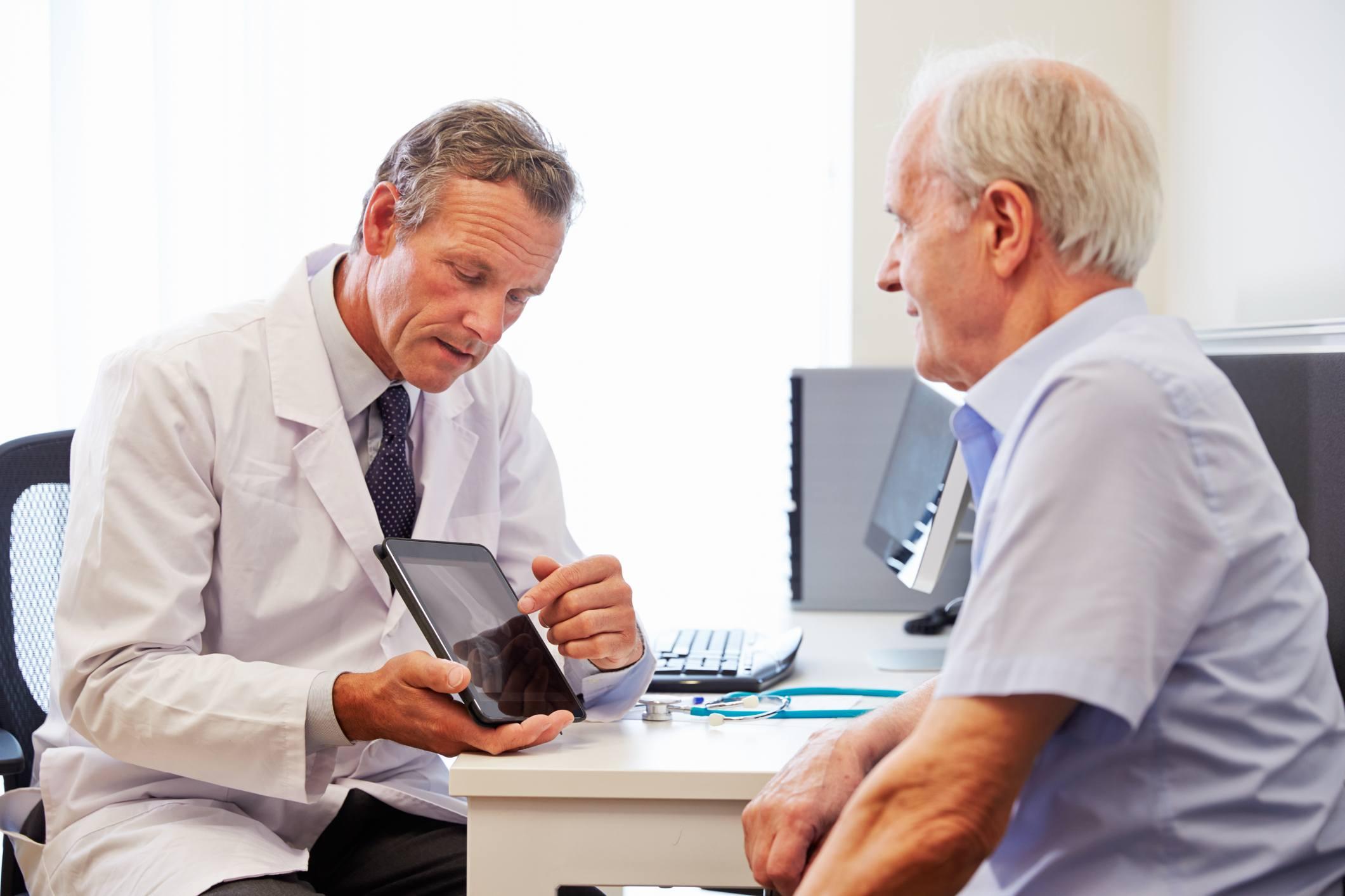 Older man at doctor