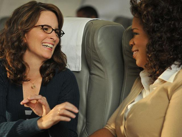 Tina Fey (as Liz Lemon) and Oprah on 30 Rock