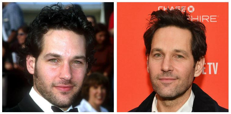 Paul Rudd now and then
