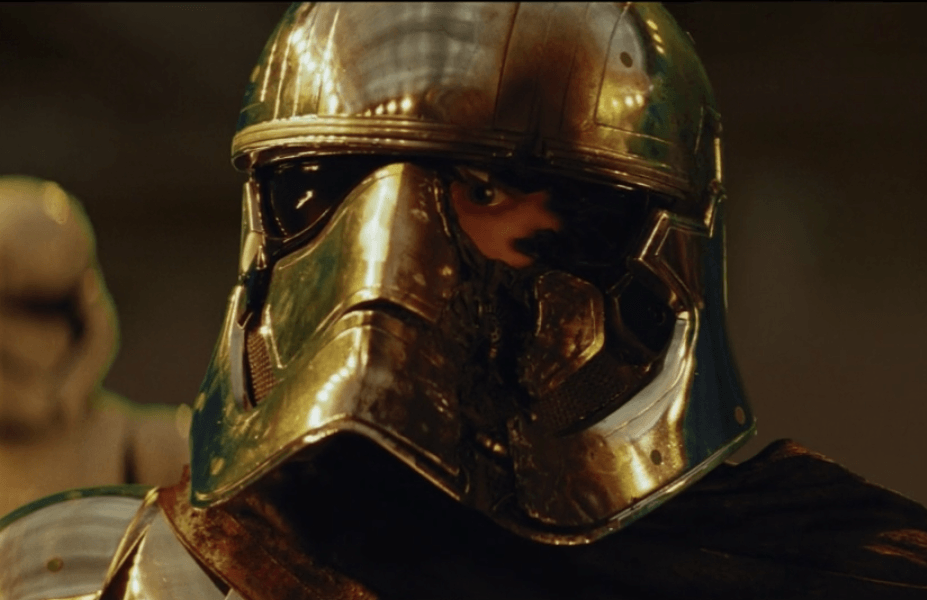 Captain Phasma in a deleted scene from Star Wars: The Last Jedi