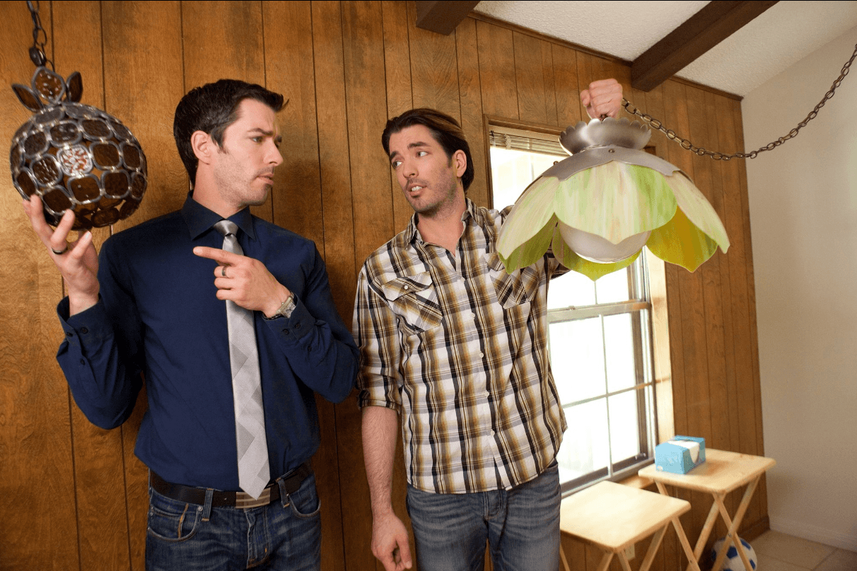 Property Brothers with old light fixtures
