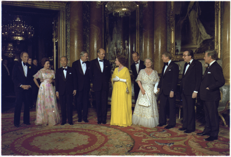 Queen Elizabeth meets Jimmy Carter