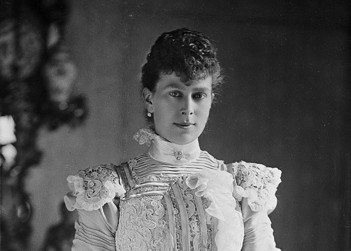 Mary, Duchess of York, formerly Mary of Teck, the consort of the future King George V, circa 1895.