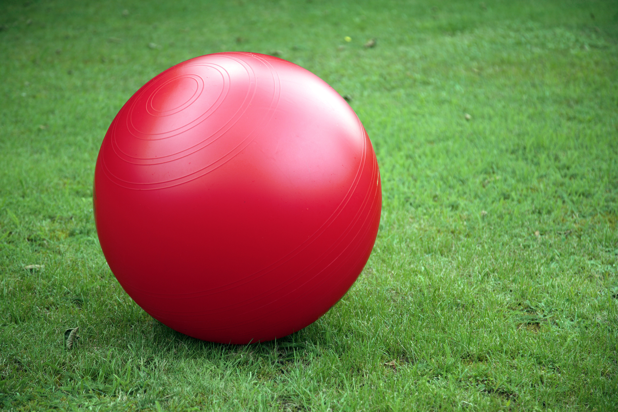 red exercise ball