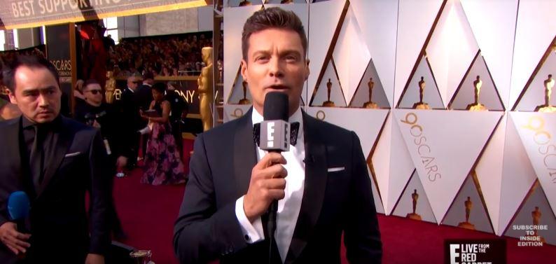 Ryan Seacrest on the Oscars 2018 red carpet