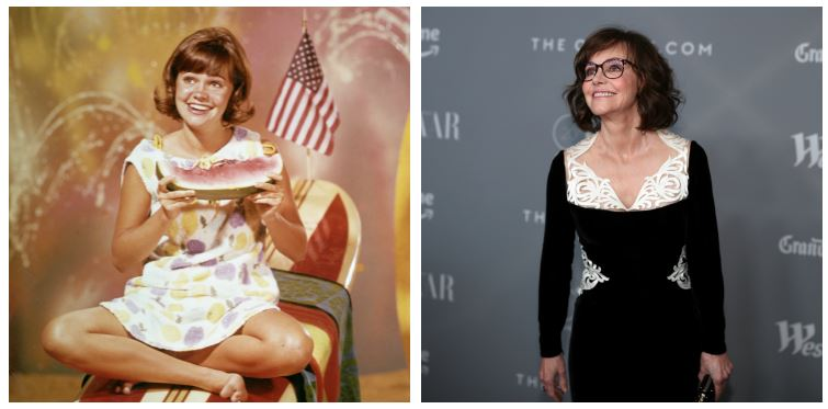 Sally Field then and now