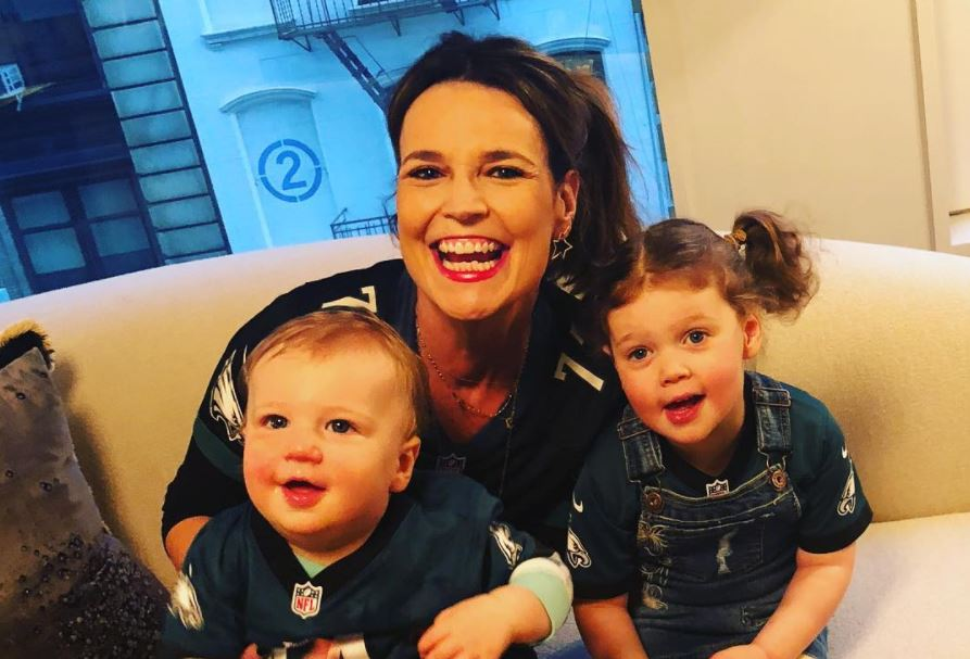 Savannah Guthrie and her two children