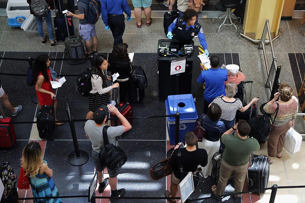 Security chect at TSA