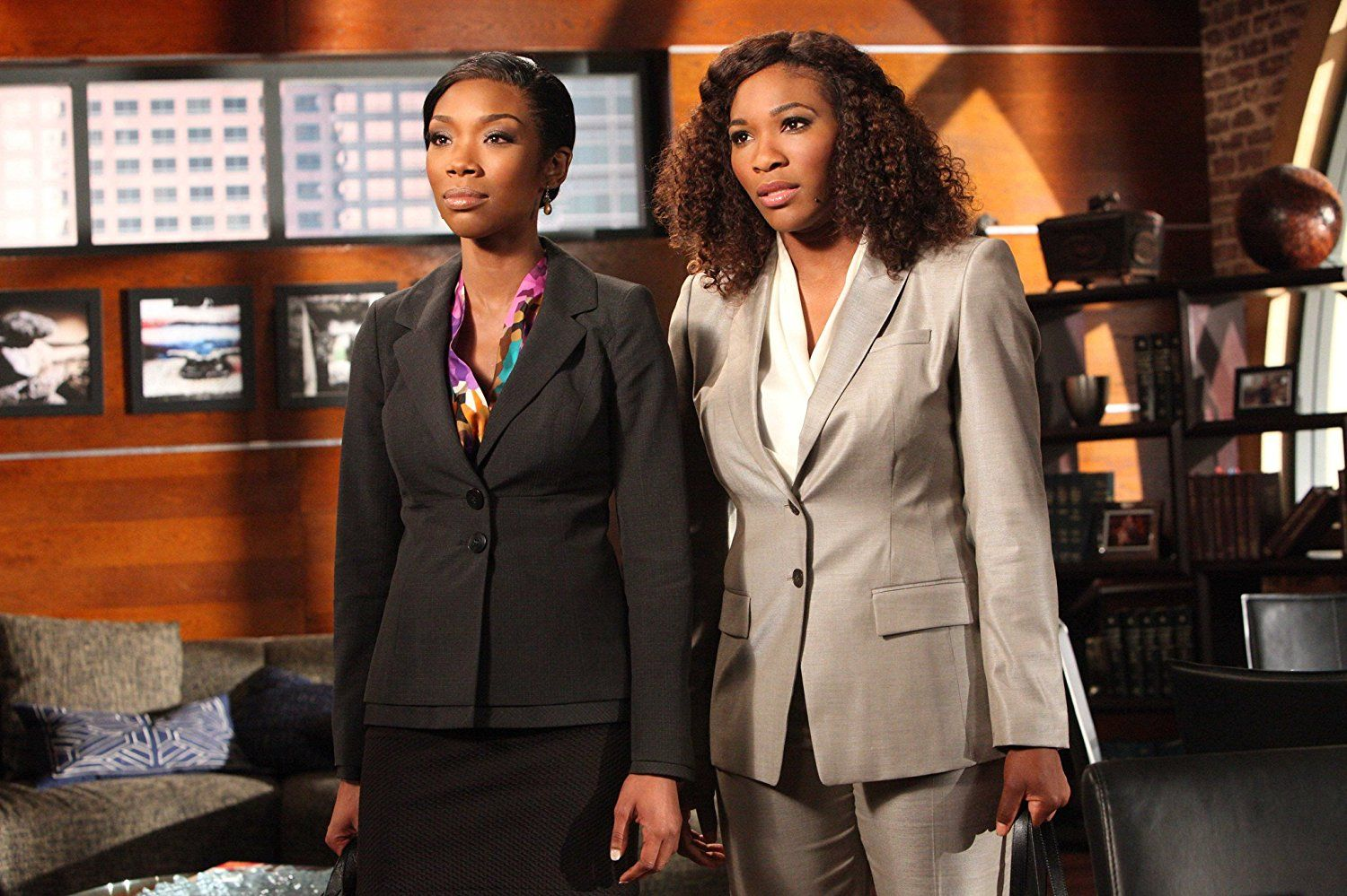 Brandy Norwood and Serena Williams on Drop Dead Diva