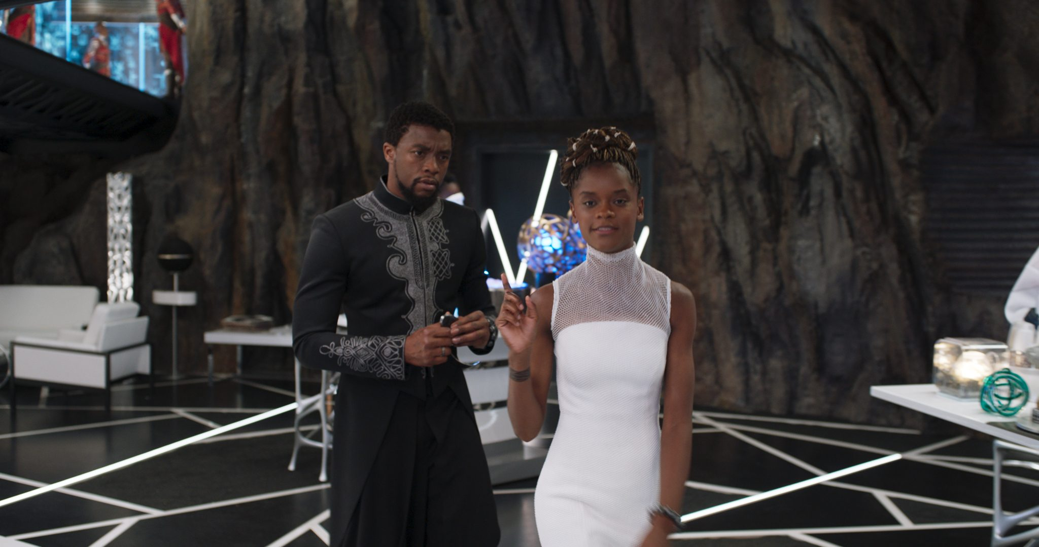 Shuri and T'Challa in Black Panther