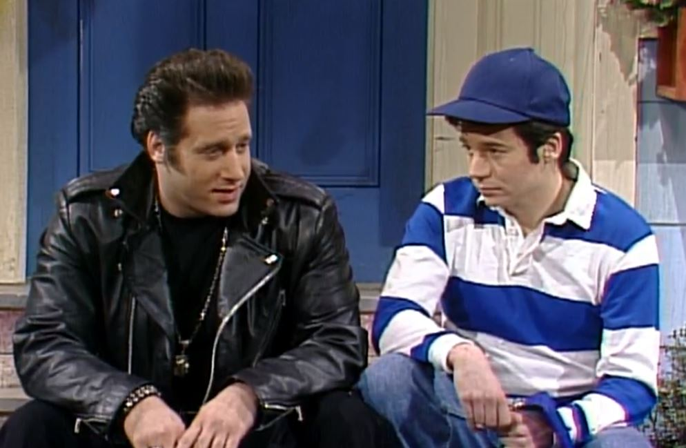 Andrew Dice Clay and Mike Myers on Saturday Night Live