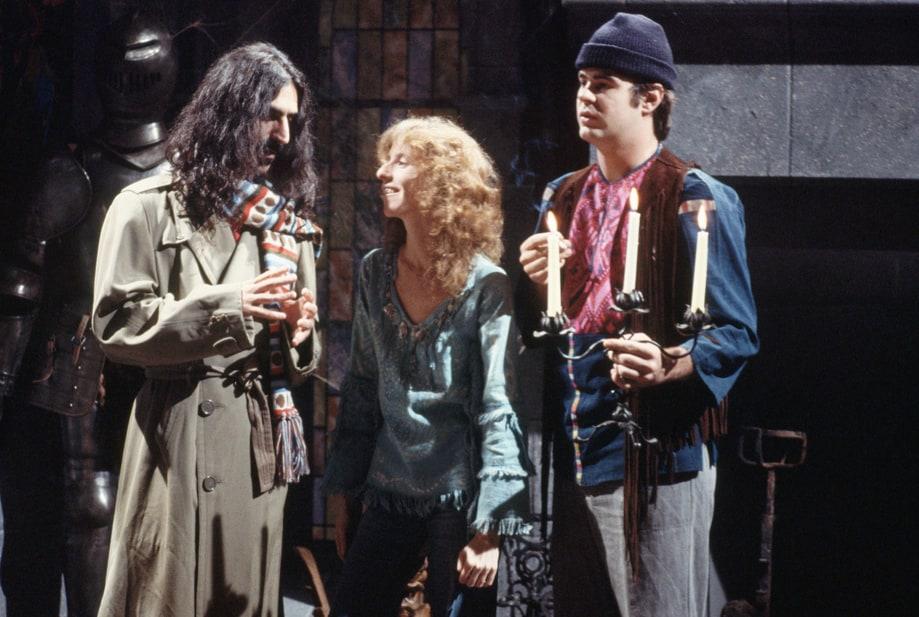 Frank Zappa, Laraine Newman, and Dan Aykroyd on Saturday Night Live