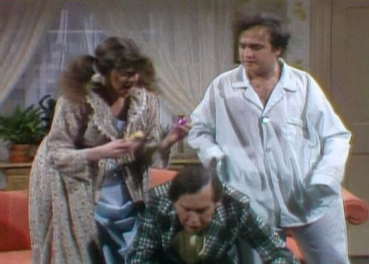 Gilda Ratner, Milton Berle, and John Belushi on Saturday Night Live