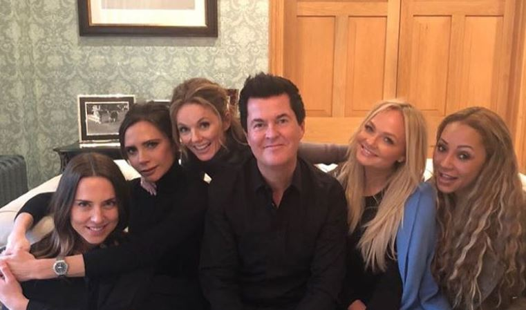 The Spice Girls with Simon Fuller