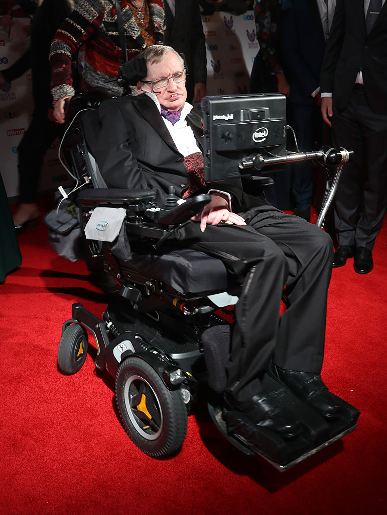 Stephen Hawking attends the Pride Of Britain awards at the Grosvenor House Hotel