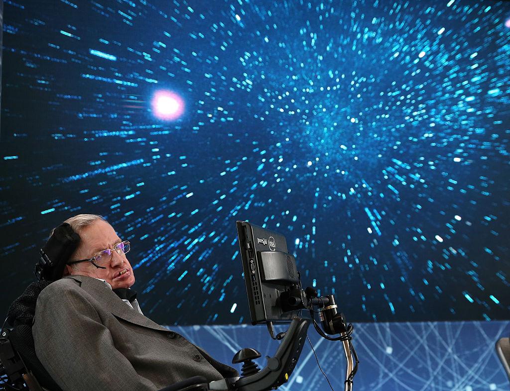 Stephen Hawking on stage