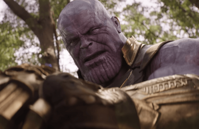 Thanos fighting his rival.