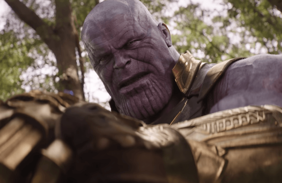 Thanos fights Captain America in Avengers: Infinity War