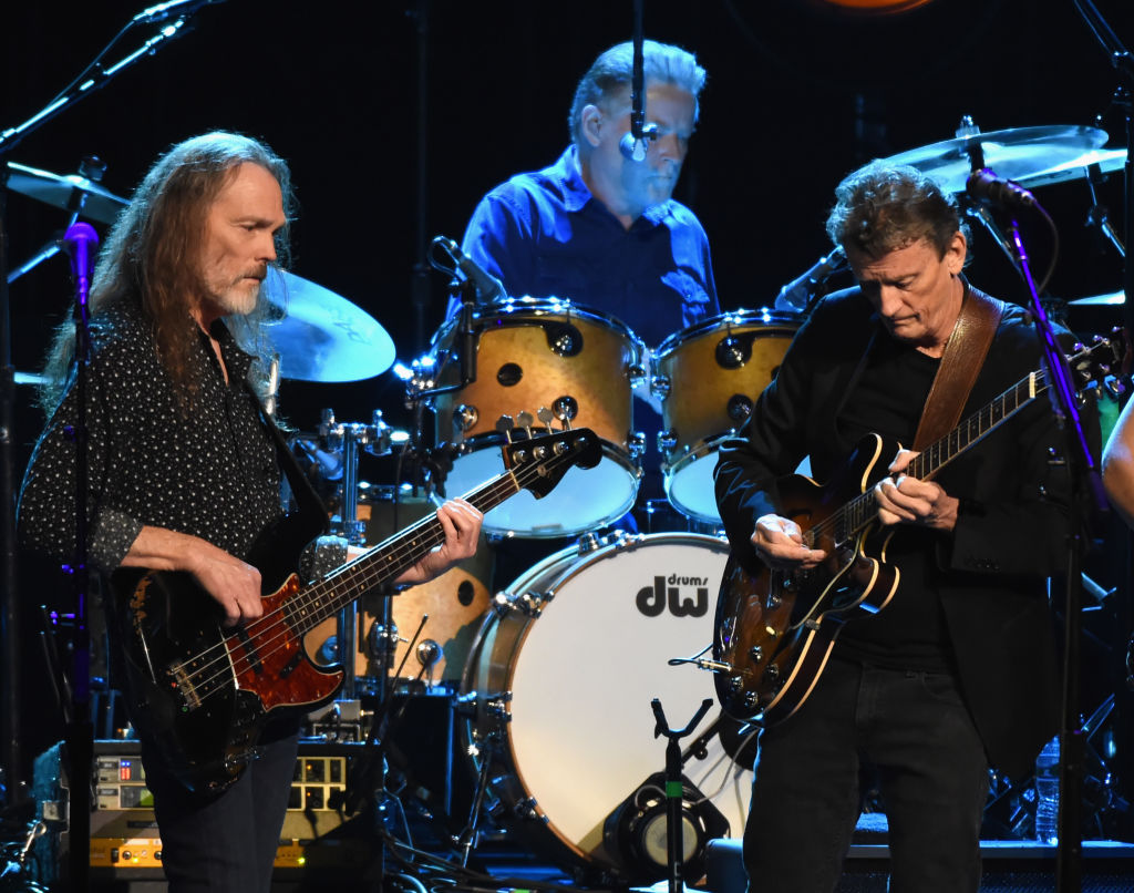 Timothy B. Schmit, Don Henley and Steuart Smith of the Eagles