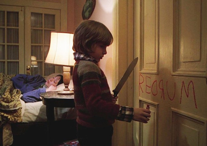 Shelley Duvall and Danny Lloyd in The Shining