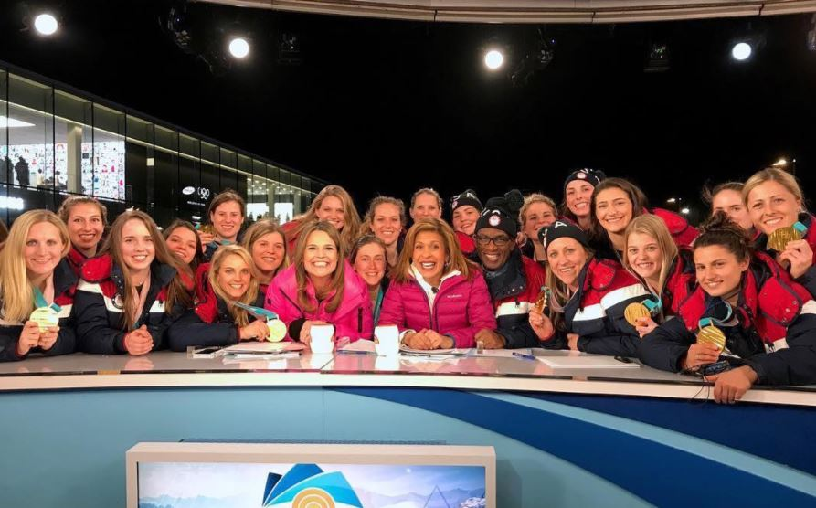 Guthrie and Kotb during Olympics coverage in Pyeongchang
