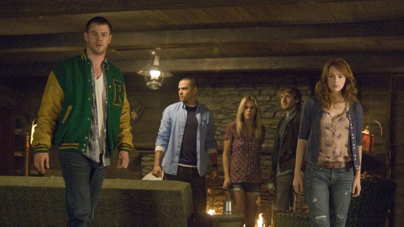 A group of teens in a cabin
