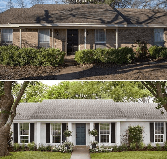 Fixer Upper home before and after